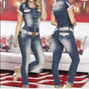 Pants - Colombian Butt Lift Jumpsuit